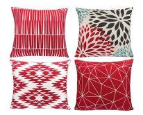 aztec red pillows